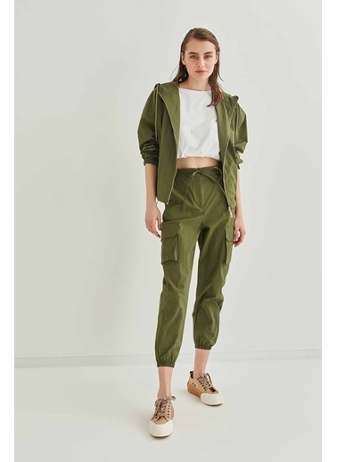 Vitrin VİTRİN Kargo Cep Detaylı Lastik Paça Pantolon Yeşil